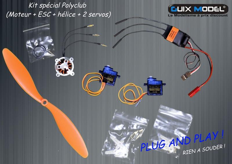 kit sp cial polyclub moteur esc h lice 2 servos. Black Bedroom Furniture Sets. Home Design Ideas