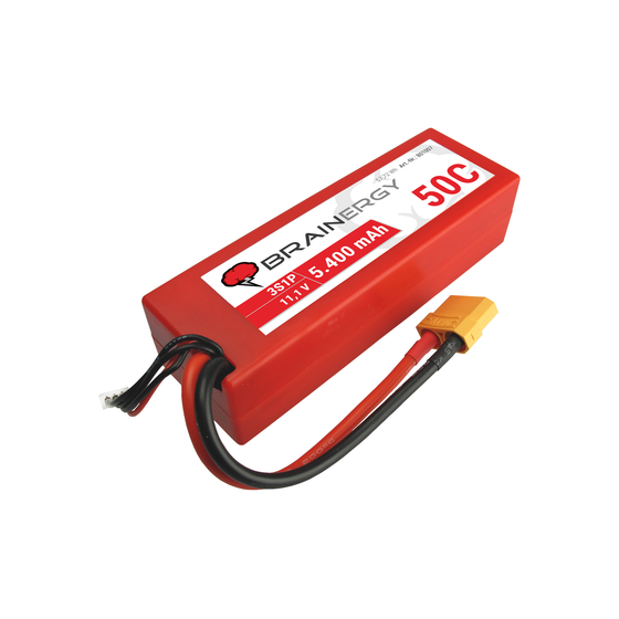 Brainergy lipo 3s 5400mAh 50C XT90